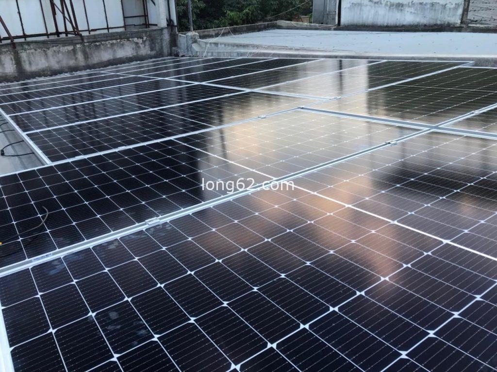 Lắp đặt điện mặt trời tại Long An trên máy nhà