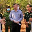 Lãnh đạo tỉnh Bình Phước khảo sát sân bay Hớn Quản. Ảnh: VOV